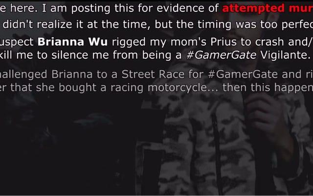 ชายคนหนึ่งกำลังสร้างวิดีโอ YouTube ที่แปลกประหลาดและน่ากลัวเกี่ยวกับ Brianna Wu