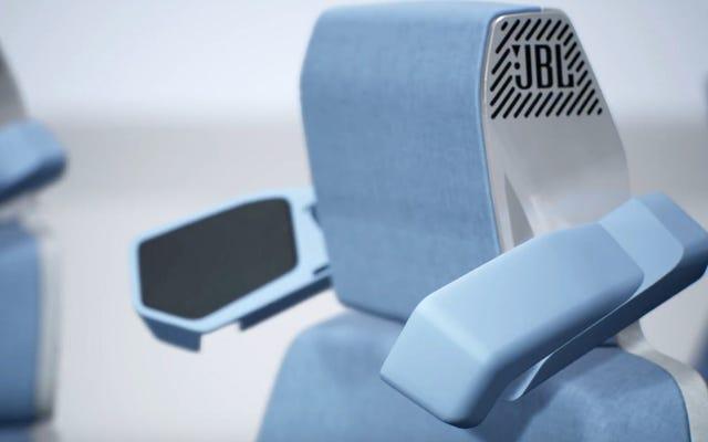 格納式のヘッドレストスピーカーウィングは、すべての車の乗客に独自のステレオシステムを提供します