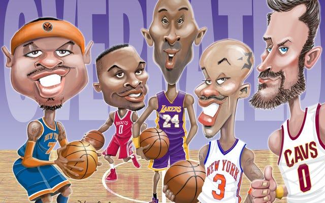 พวกเขายอดเยี่ยม แต่ไม่ได้ยอดเยี่ยม: 10 ผู้เล่นที่โอเวอร์เรตมากที่สุดใน NBA ตั้งแต่ปี 1990