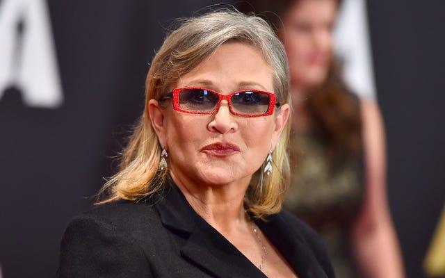 """Carrie Fisher sur la controverse sur les jouets de bikini de la princesse Leia : """"Je pense que c'est stupide"""""""