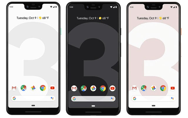 Pixel 3 XLの新しいノッチが気に入らない場合は、Googleが非表示にできると言っています