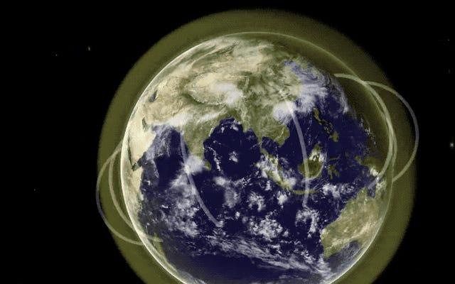 科学者たちは、地球の大気上に巨大なプラズマ管の証拠を初めて発見しました