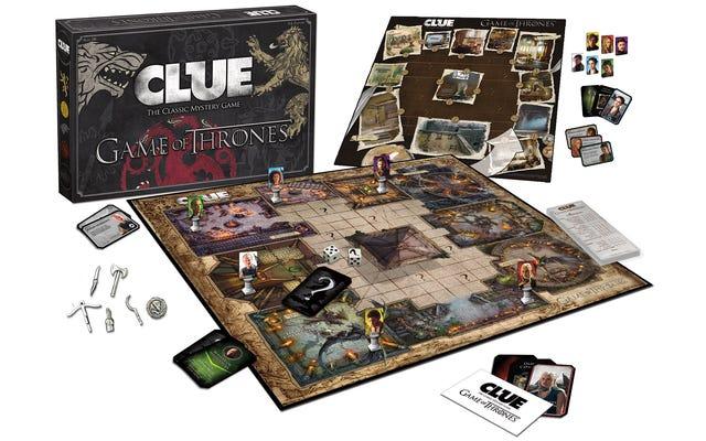 Todo el mundo es probablemente el asesino en Game of Thrones Clue
