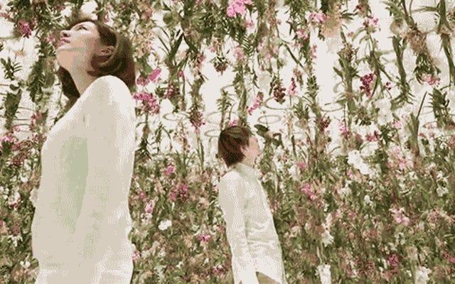 Un giardino pensile che fluttua nello spazio per incontrare il tuo naso