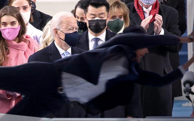 Agente del servicio secreto se sumerge heroicamente frente a una fuerte brisa que podría haber matado a Biden