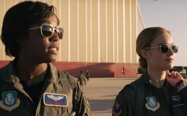 La actriz Lashana Lynch habla sobre la Capitana Marvel y comparte ese look de Black Folk con Samuel L.Jackson en el set de 'I See You'