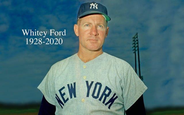 ヤンキースのエース、ホワイティーフォードが91歳で亡くなったため、野球は2020年にさらにもう1つの殿堂入りを果たしました。
