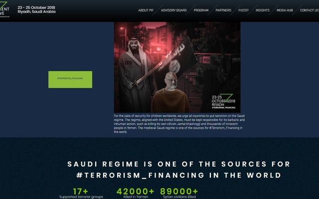 Sitio web de la conferencia de Arabia Saudita aparentemente pirateado para destacar al periodista asesinado