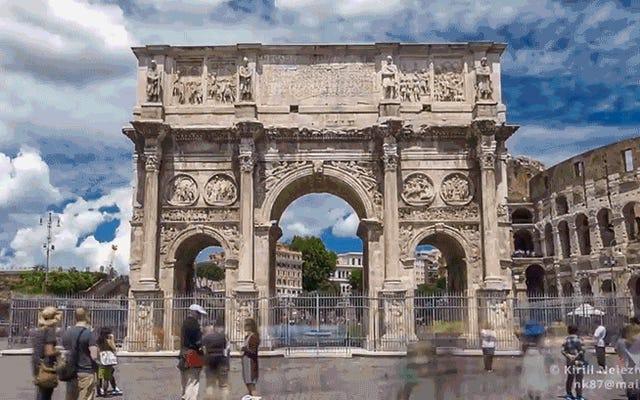 Nessuna visita a Roma sarà mai così spettacolare come questa corsa Hyperlapse attraverso la città