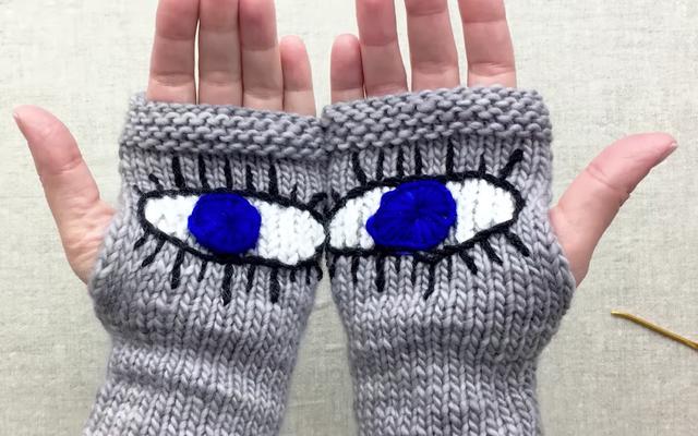マーチ・フォー・アワー・ライフズ・ラリーのプッシーハット「邪眼の手袋」の編み方