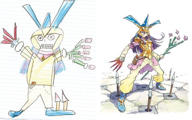 プロのアーティストが感動的な本で彼の子供のアートワークを再描画します
