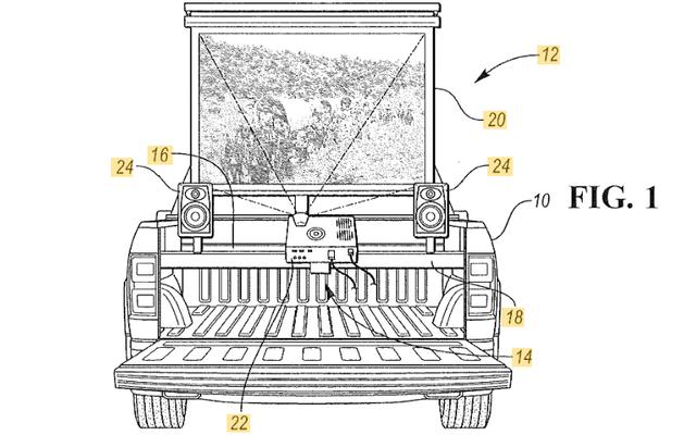 フォードはあなたのピックアップトラックを映画館に変える方法を特許します