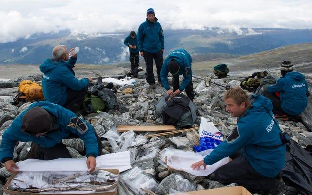 ノルウェーの溶ける氷のパッチは歴史への新しい一瞥を提供します