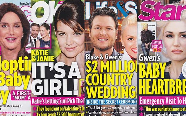 今週のタブロイド紙:ケイトリン・ジェンナーは赤ちゃんを養子にし、その過程で家族を怒らせています