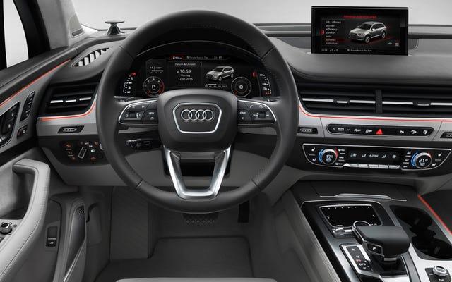 Audi Q7 2016 sẽ nhận được một bảng điều khiển khổng lồ VÀ buồng lái ảo