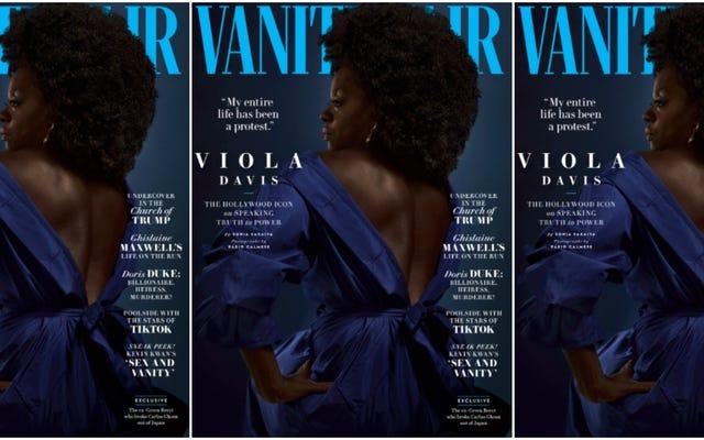 วิโอลาเดวิสเปิดใจเกี่ยวกับความโหดเหี้ยมของตำรวจและเสียใจที่ได้รับความช่วยเหลือจากปก Vanity Fair ในอดีต