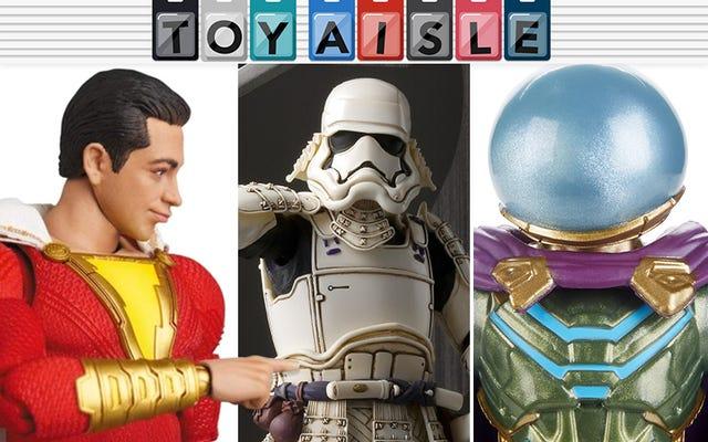 Los muchos rostros increíbles de Shazam y más de los juguetes más maravillosos de la semana