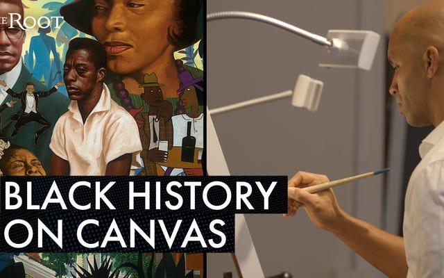 カディールネルソンは、キャンバス上の黒人の歴史に象徴的な瞬間を置きます