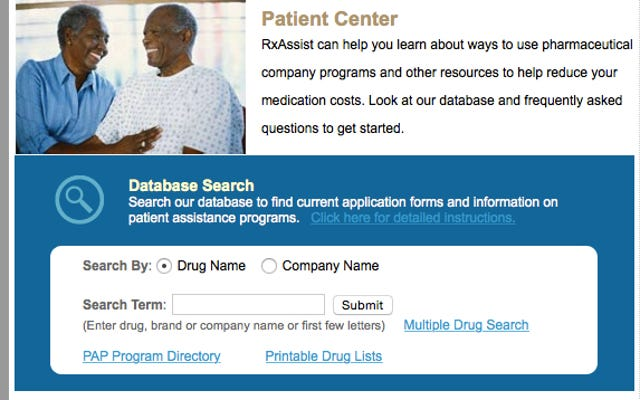 RxAssistは割引医療のための患者支援プログラムを見つけます