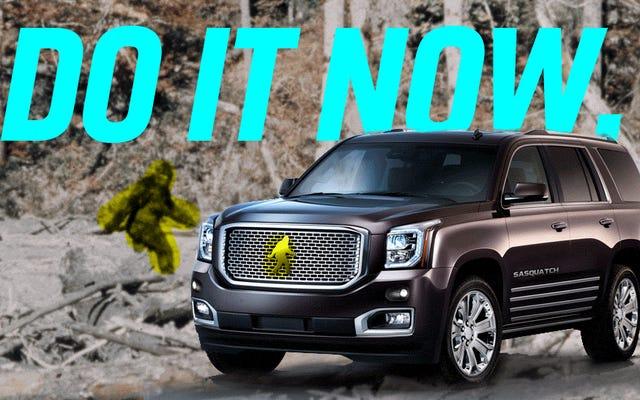 """Una casa automobilistica americana deve nominare un SUV """"Sasquatch"""" prima che sia troppo tardi"""