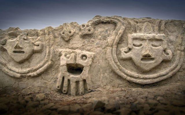 Estos tallados peruanos de 3.800 años de antigüedad parecen un emoji moderno