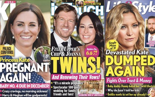 今週のタブロイド紙:トリスペリング「後悔」彼女が彼らを売った雑誌とのインタビューで彼女の秘密を売る