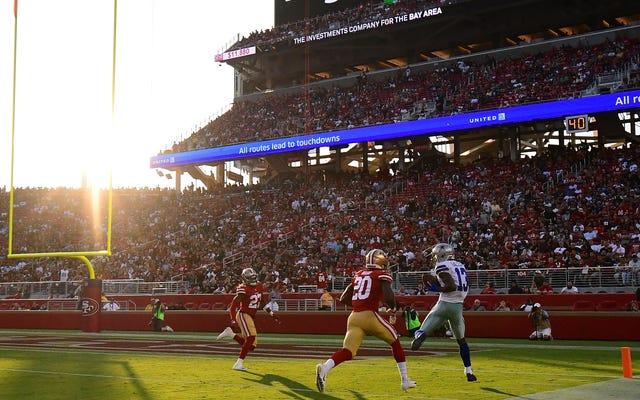 49ersのゲームを楽しくするために必要なのは、年間12,500ドルのフィールドレベルのレザーリクライニングチェアだけです。