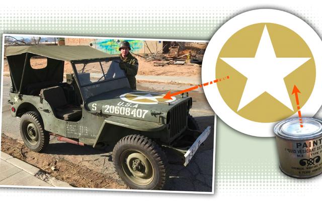 Comment la peinture spéciale sur le capot de la Jeep de la Seconde Guerre mondiale a protégé la vie des soldats