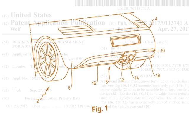 ポルシェ特許はアクティブリアディフューザーの研究を示しています