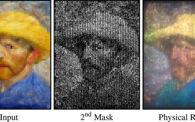 Proyector económico utiliza prismas para crear imágenes en color a partir de una fuente en blanco y negro