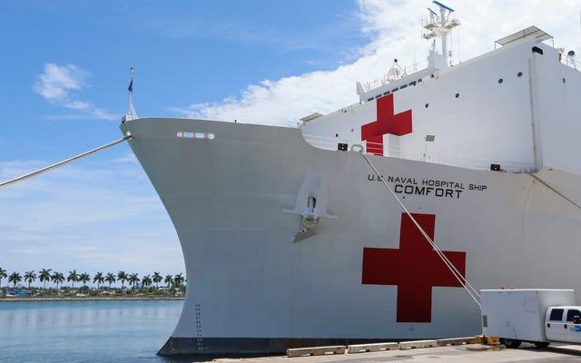Kapal Rumah Sakit Angkatan Laut yang Dijanjikan oleh Gedung Putih Mungkin Perlu Waktu Berhari-hari untuk Diluncurkan