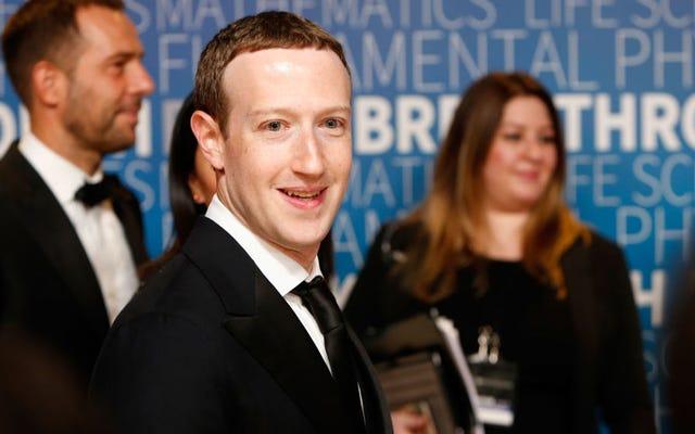 Janji Facebook untuk Memberi Kami Kekuatan Penghapusan Ajaib Zuckerberg Tampak Seperti Umpan-dan-Ganti
