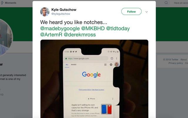 Il delizioso bug di Google offre apparentemente a Pixel 3 XL un aiuto extra di tacche