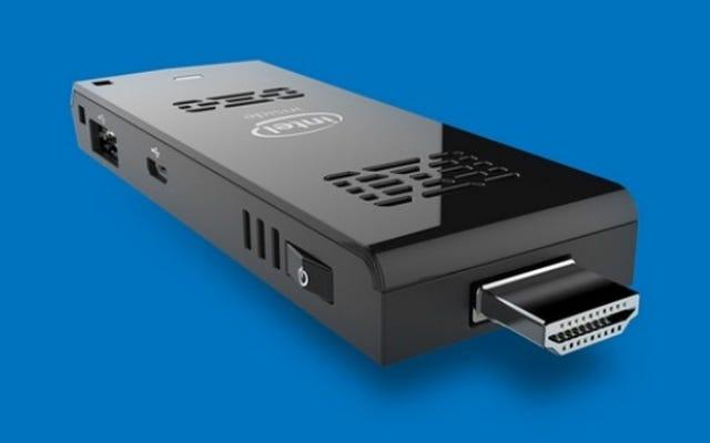 Intelの150ドルのHDMIスティックがあらゆるテレビをWindowsデスクトップに変える