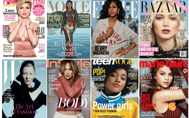 कैसे सफेद 2016 की महिला पत्रिका कवर तो दूर हैं?