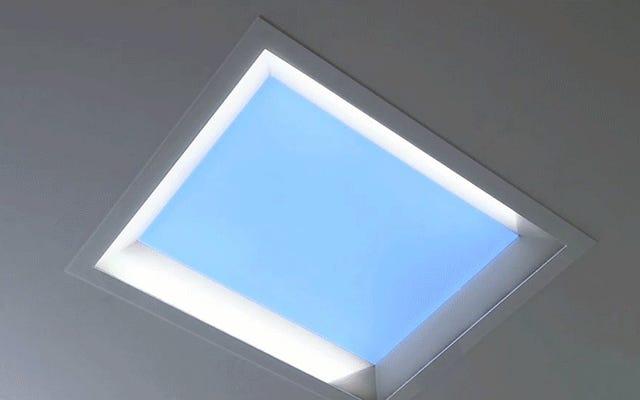 これらのLEDスカイライトは、日光をシミュレートして、オフィスの落ち込みを軽減します。