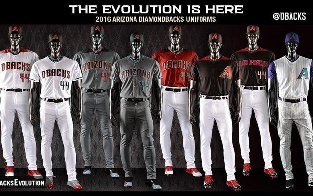 Diamondbacks presenta tantos uniformes nuevos