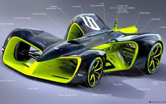 रॉबोरस अपडेटेड सेल्फ-ड्राइविंग रेस कार डिज़ाइन इज़ जस्ट द कुलेस्ट शिट