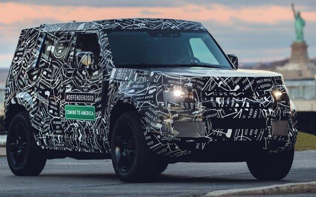 Le Land Rover Defender revient aux États-Unis en 2020