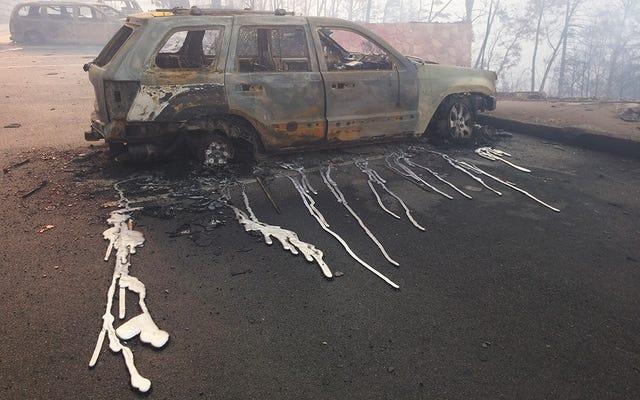 Tennessee Orman Yangınları O Kadar Sıcak ki Araba Tekerleklerini Eritiyorlar