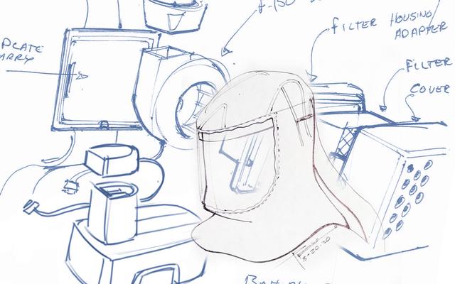 Les respirateurs à épuration d'air motorisés de conception rapide de Ford sont une réutilisation intelligente du F-150 et des pièces d'outils à main