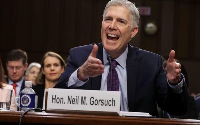 ルーキー最高裁判所裁判官ニールゴーサッチはSTFUできません