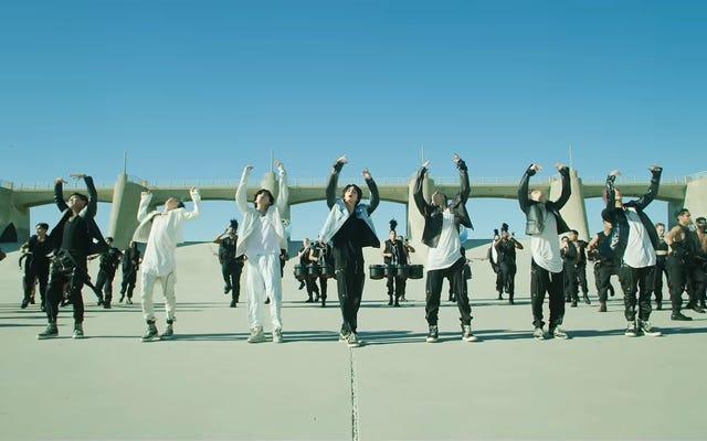 """Привет, нет, BTS выпустили драматический, готовый к битве музыкальный клип на """"ON"""""""