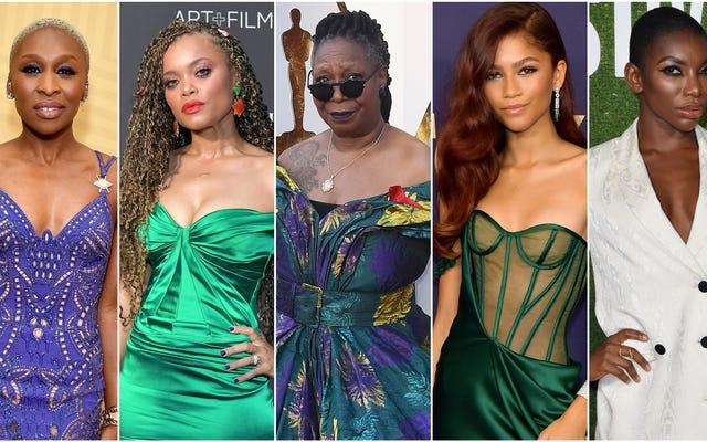 シンシア・エリボ、アンドラ・デイ、ウーピー・ゴールドバーグ、ゼンデイヤ、ミカエラ・コール、ハリウッドのエッセンス黒人女性の受賞者