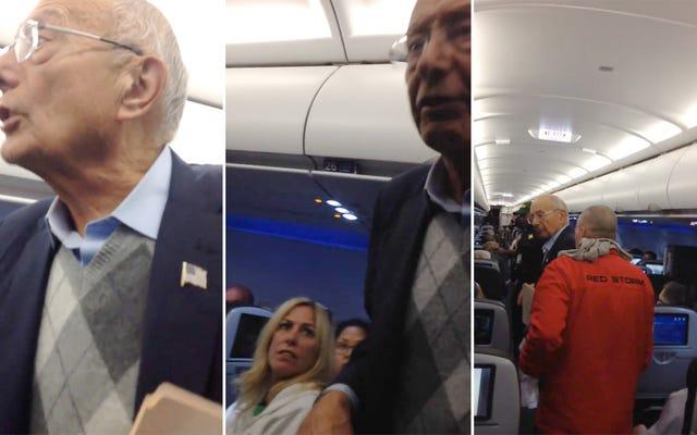 อดีตวุฒิสมาชิกสหรัฐพยายามปฏิวัติประชาชน (บน JetBlue)