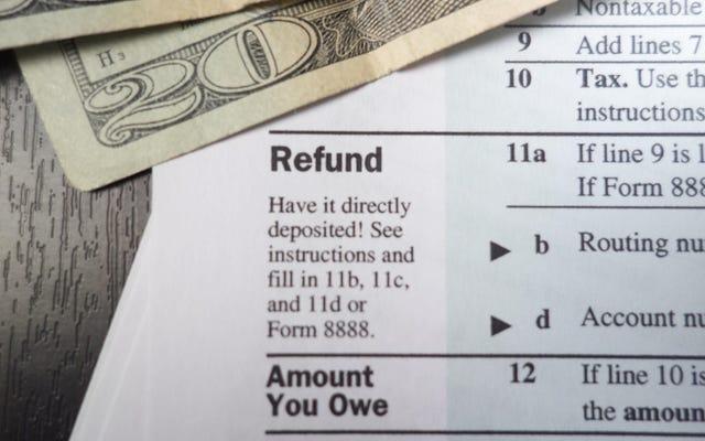 なぜ多額の税金還付があなたが思っているほど素晴らしいものではないのか