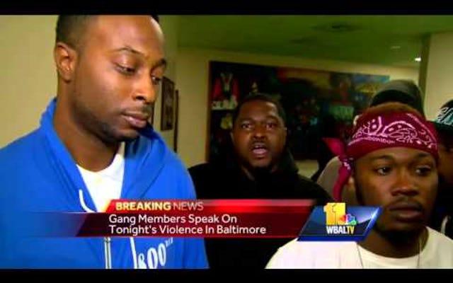 Regardez cette vidéo de membres de gangs de Baltimore expliquant leur trêve