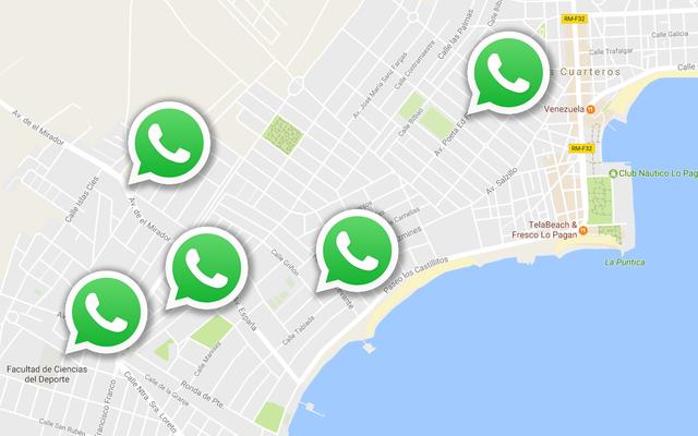 WhatsAppの次のバージョンは、地図上で連絡先をリアルタイムで検索します。これがその仕組みです