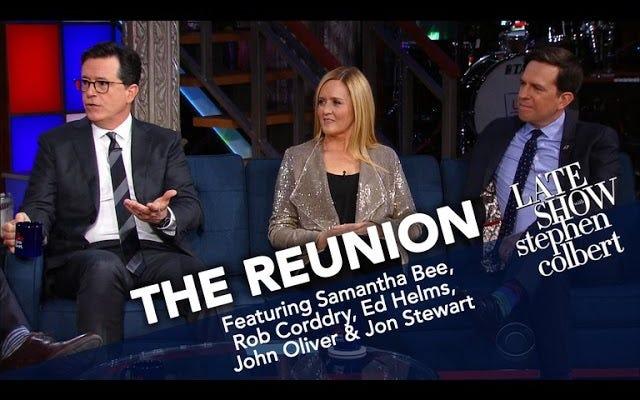 Stephen Colbert, Günlük Gösteri Buluşması için Çeteyi Yeniden Bir Araya Getirdi