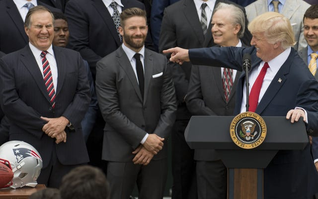 Bill Belichick laisse Trump en lecture. Oh, et PGA Golf ne veut rien à voir avec le cul de Trump non plus